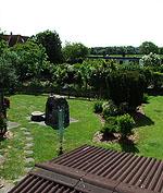 Der 1036 qm große Garten in unserem Ferienhaus