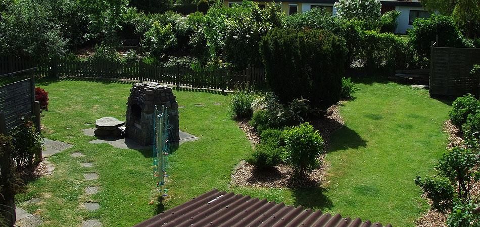 Eingezäunter Garten Fehmarn Hund